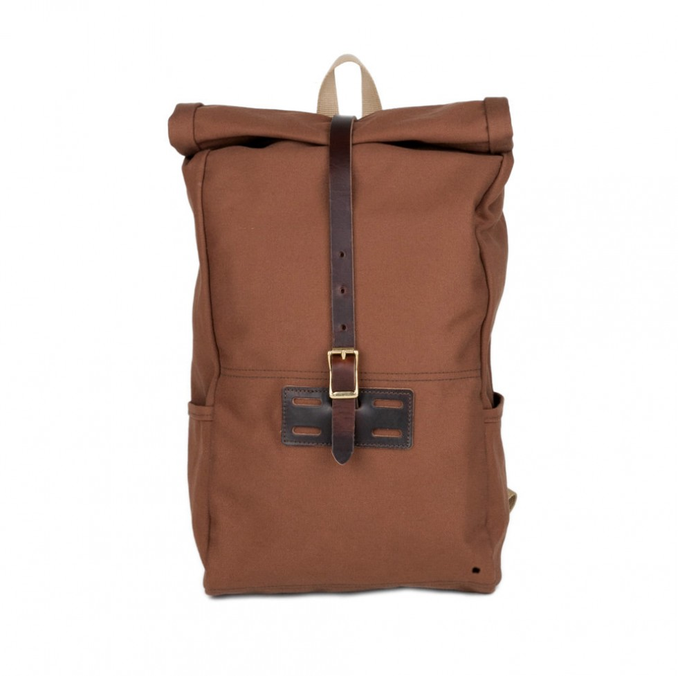 Archival Clothing - Rolltop Rucksack Canvas, Zimtbraun