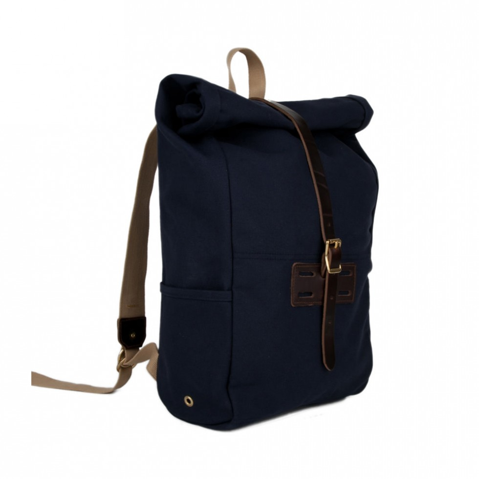 Archival Clothing - Rolltop Rucksack Canvas, Blau