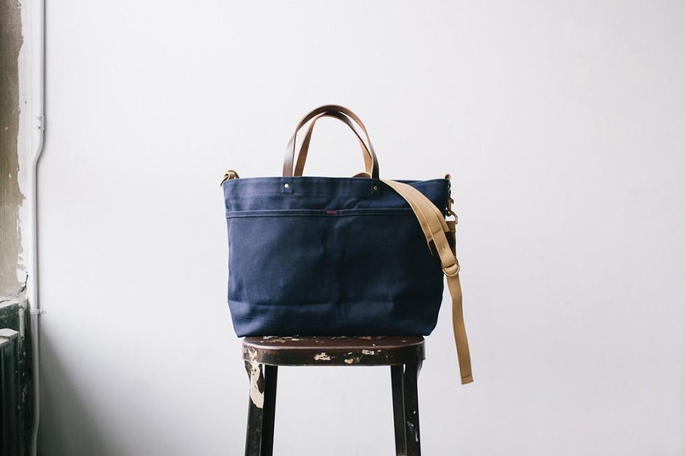 Archival Clothing - Shoulder Tote Einkaufstasche, Blau