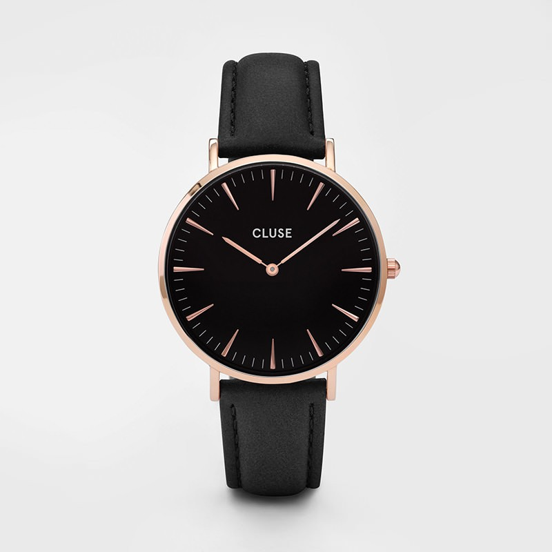 Cluse - La Bohème Rose Gold Black/Black