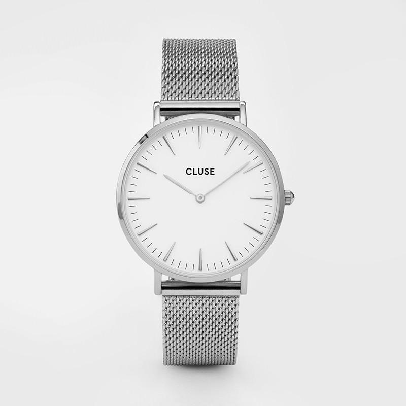 Cluse - La Bohème Mesh Silver/White