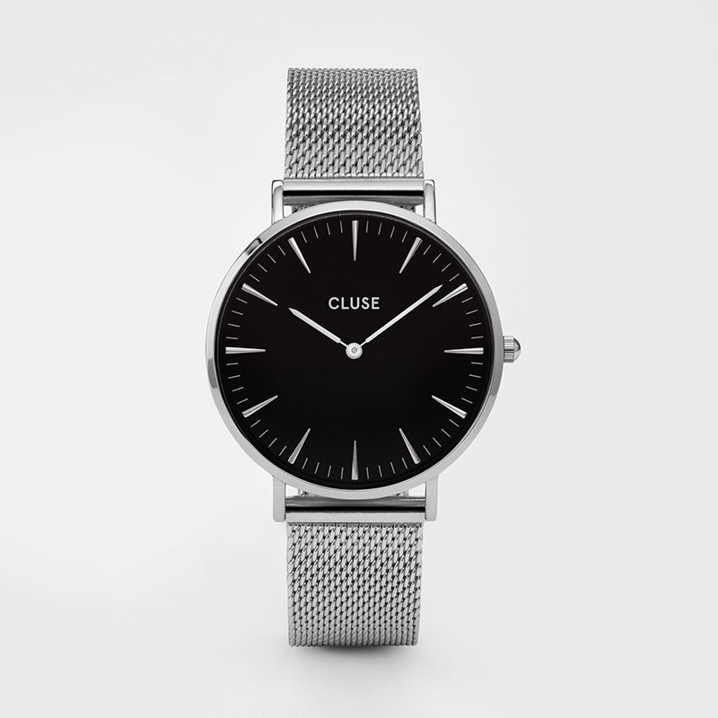 Cluse - La Bohème Mesh Silver/Black