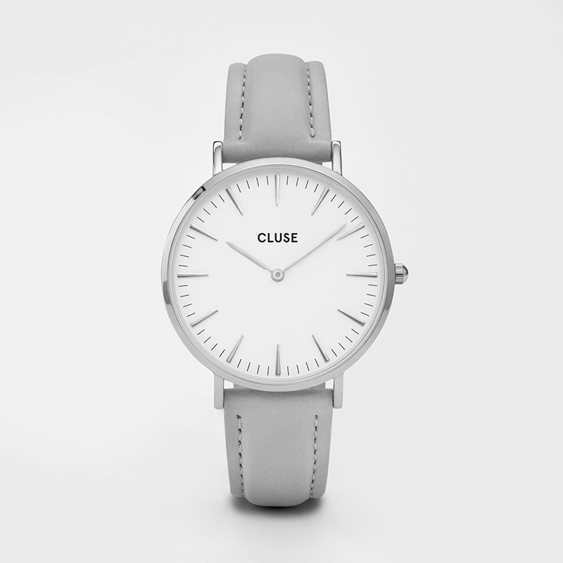 Cluse - La Bohème Silver White/Grey