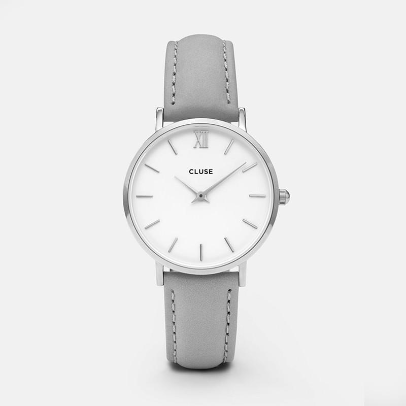 Cluse - Minuit Silver White/Grey