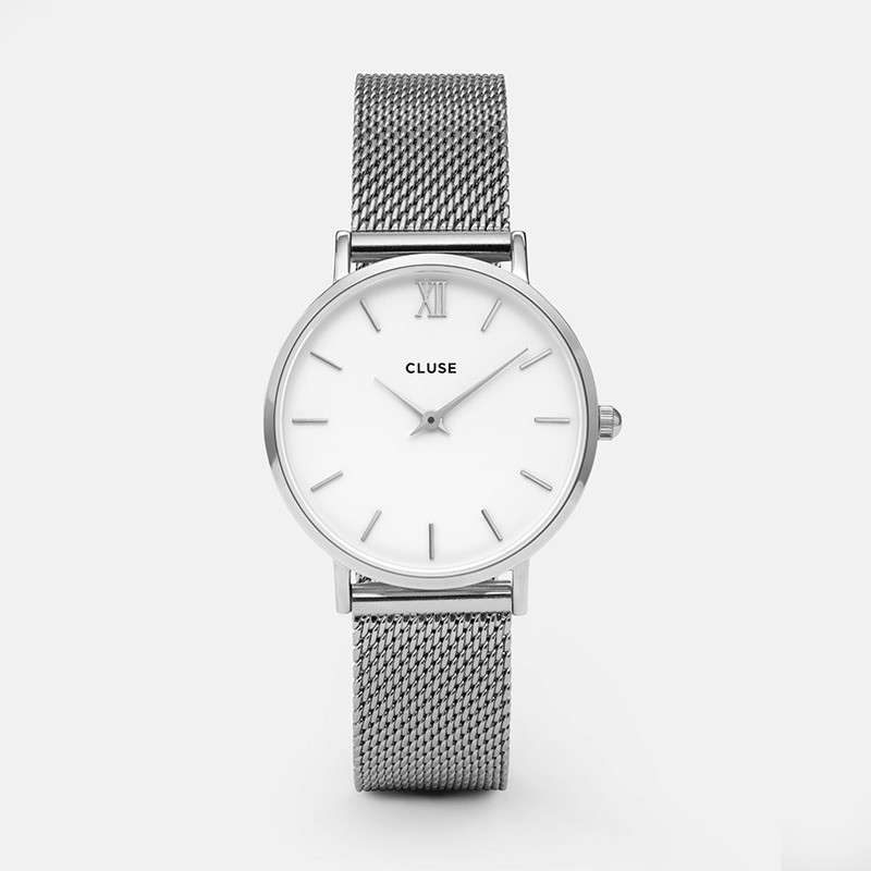 Cluse - Minuit Mesh Silver/White