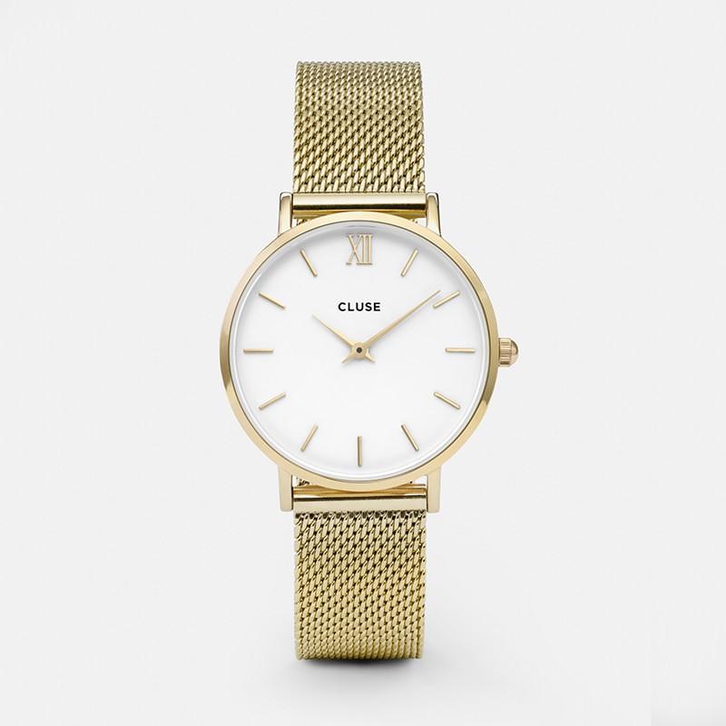 Cluse - Minuit Mesh Gold/White