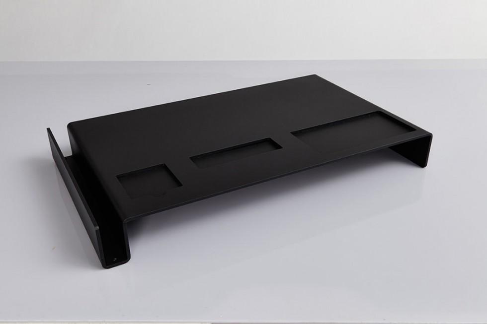 Emform - Deskbridge Alu Black HPL Schreibtischauflage