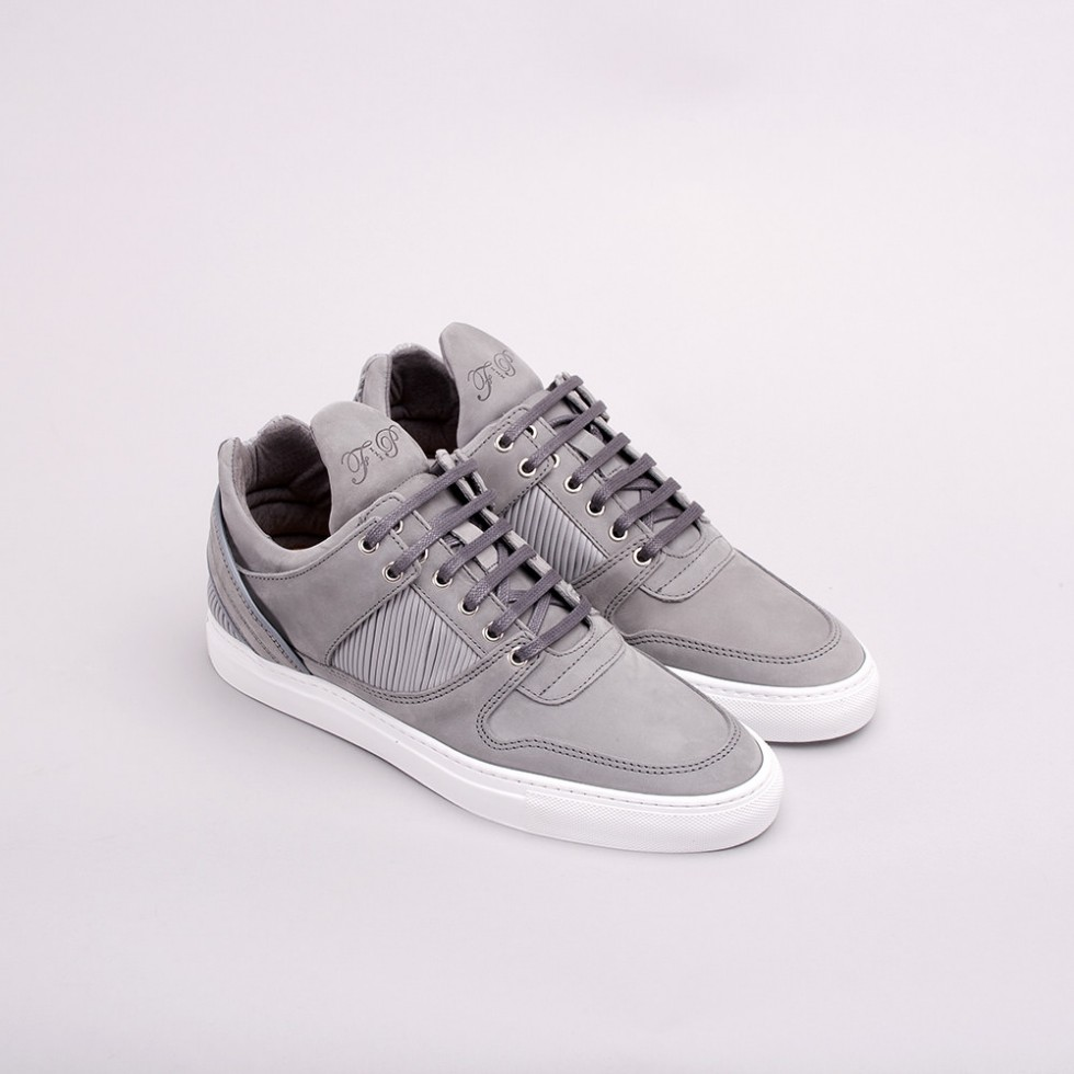 Filling Pieces - Grey Pleated Low Top Transformed