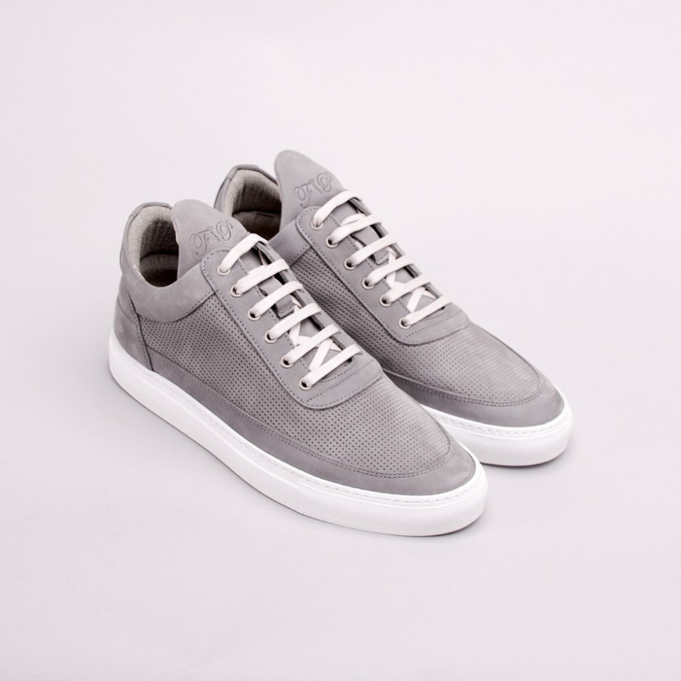 Filling Pieces - Perforated Low Top Sneaker