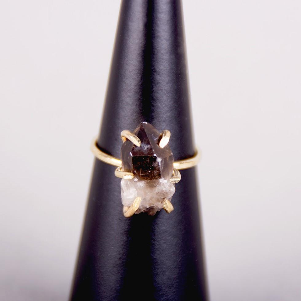 Five and Two - Gemma Smoky Quartz Ring