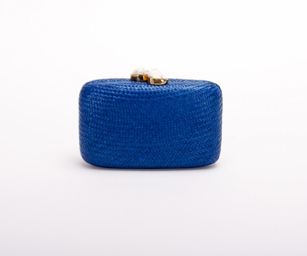 Kayu Design - Jen Straw Clutch mit Whitestone