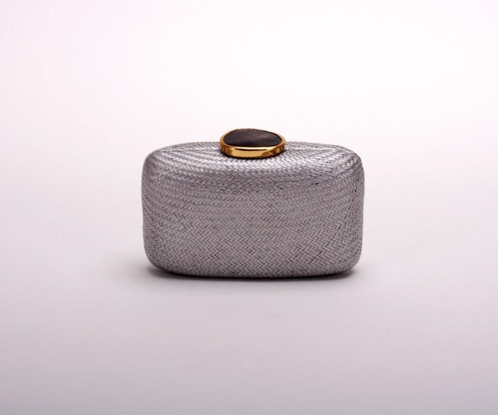 Kayu Design - Tista Clutch, silbergrau