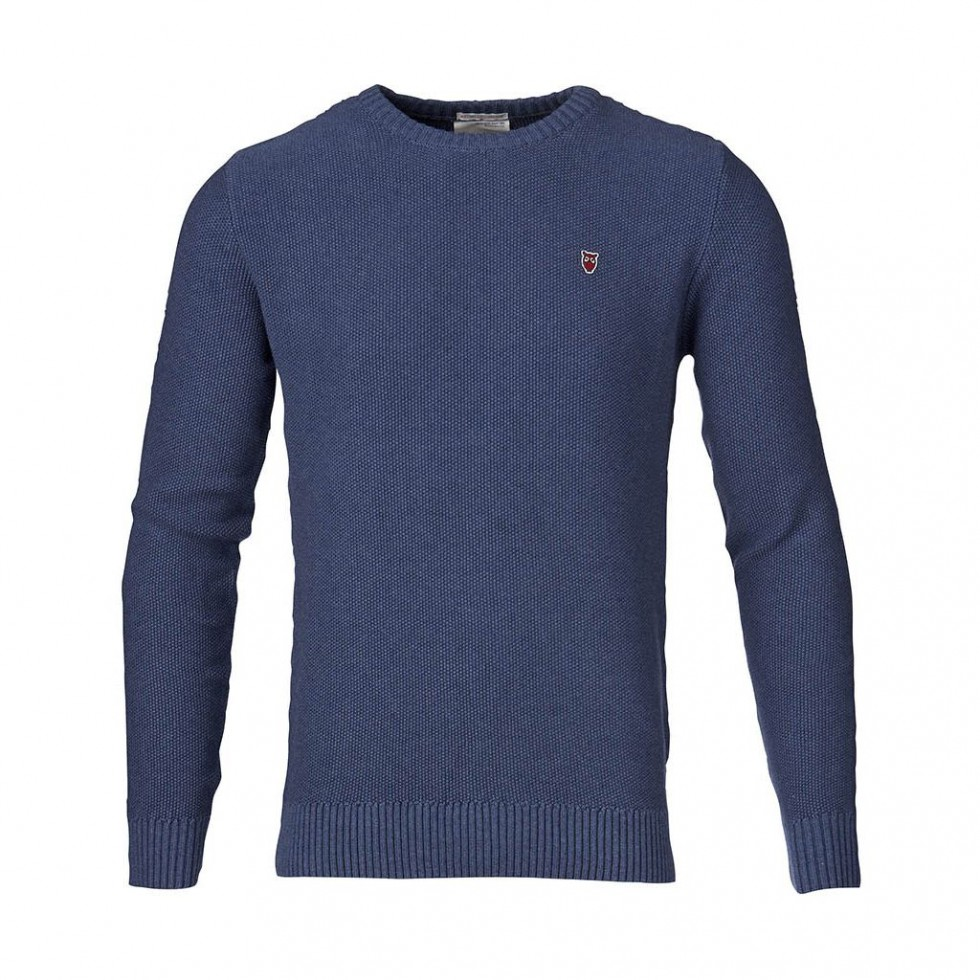 Knowledge Cotton - Basic Strickpullover, Blau