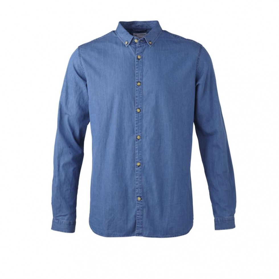 Knowledge Cotton - Button Down Jeanshemd