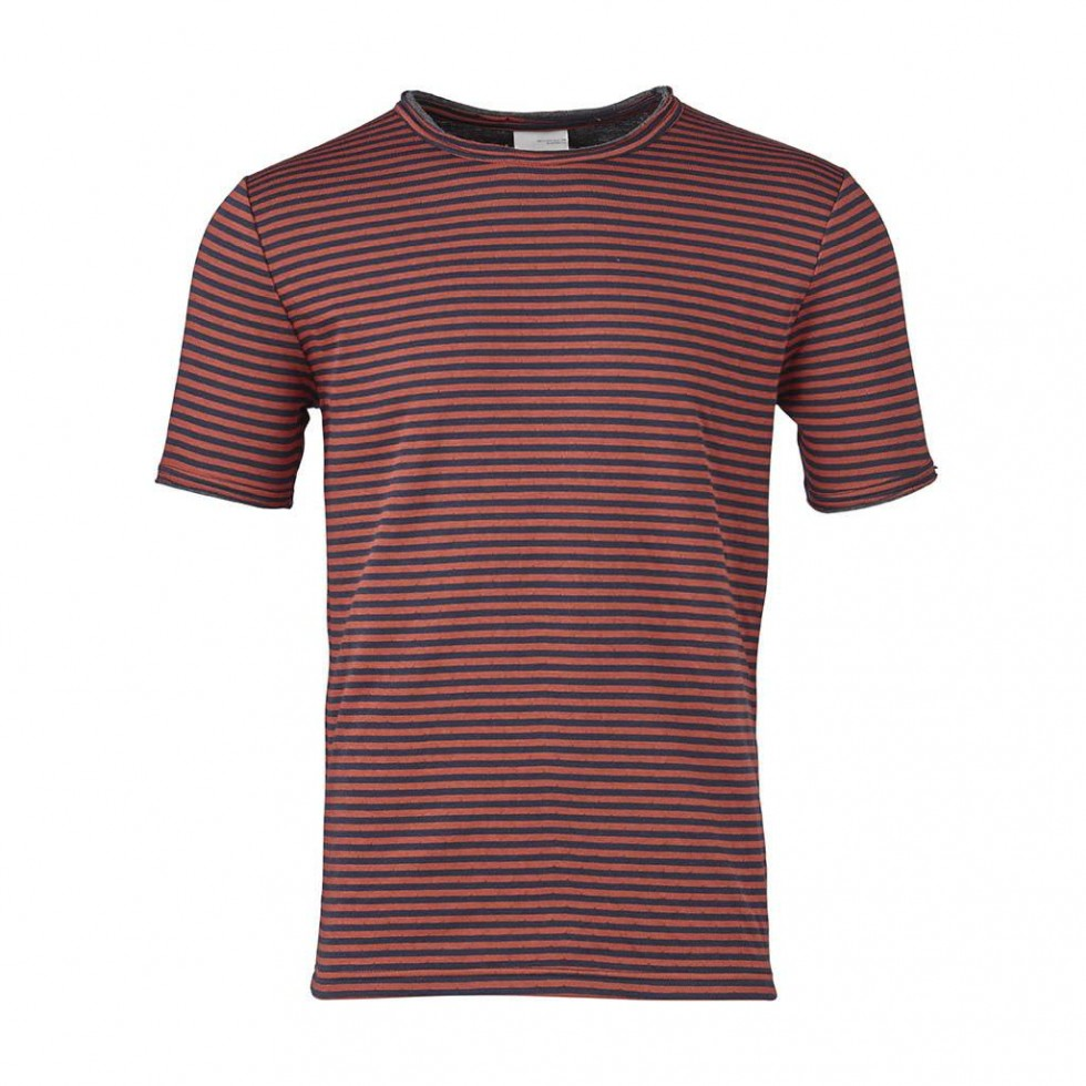 Knowledge Cotton - Double Layer Striped T-Shirt