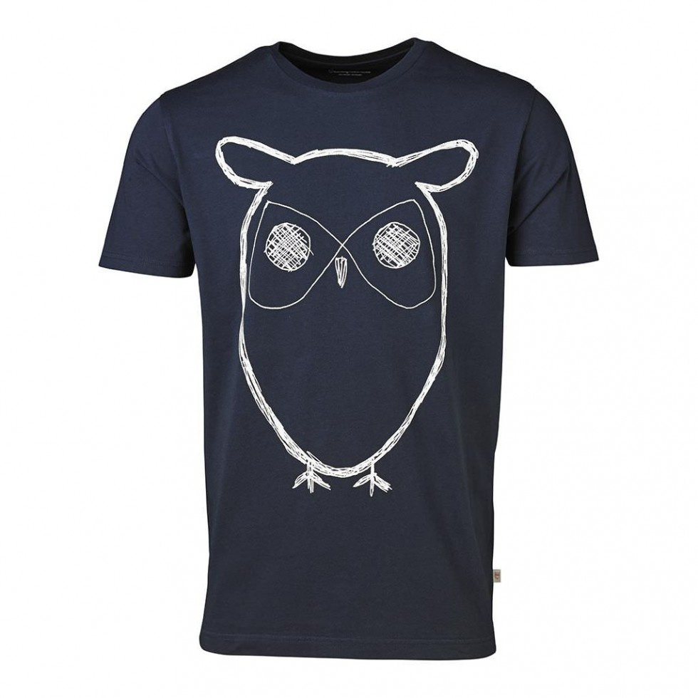 Knowledge Cotton - Knowledge Cotton T-Shirt, Blau