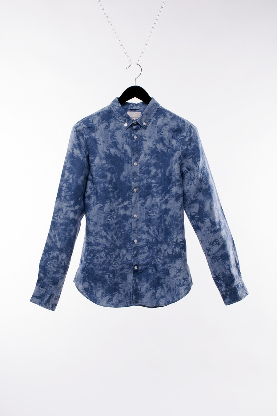 Knowledge Cotton - Palm Printed Shirt, Long Sleeve