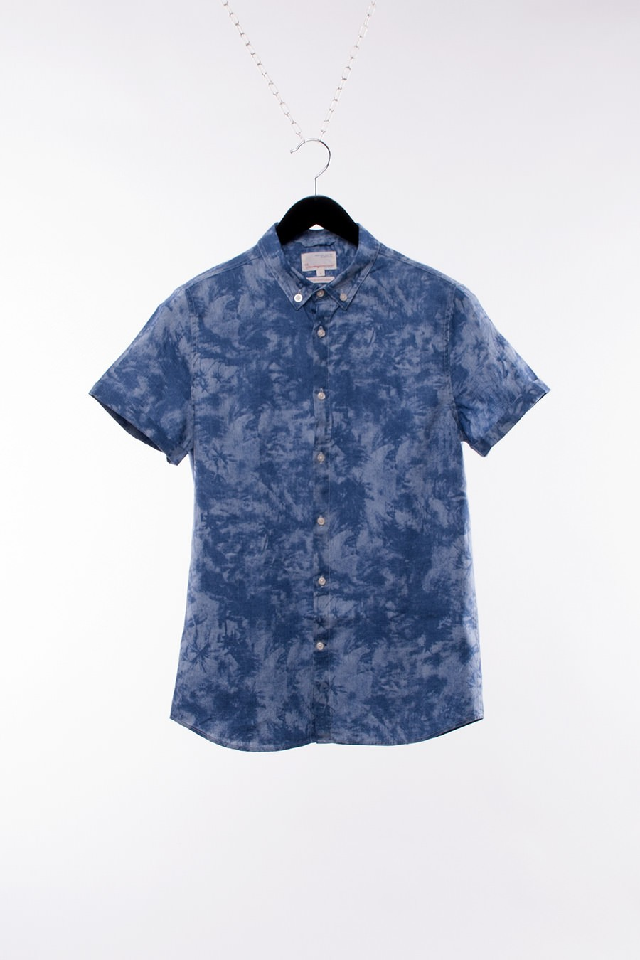 Knowledge Cotton - Palm Printed Shirt, Short Sleeve