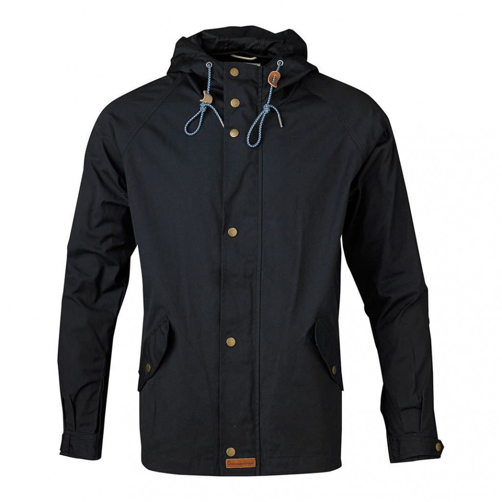 Knowledge Cotton - Waxed Canvas Light Jacket, Blau