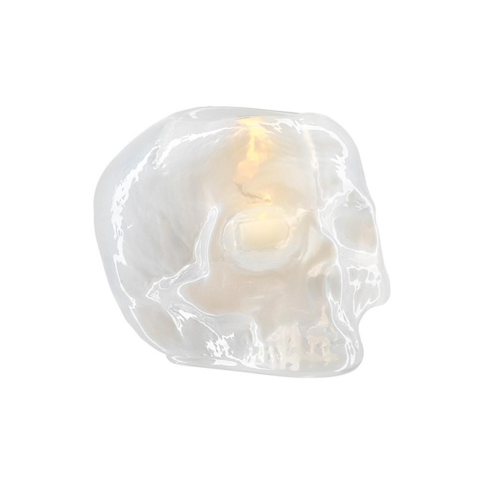 Kosta Boda - Still Life, Skull Votive White