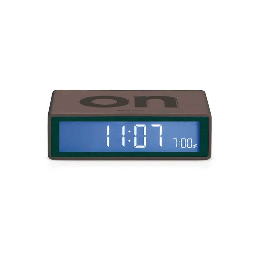 Lexon - Flip Clock Dunkelgrau