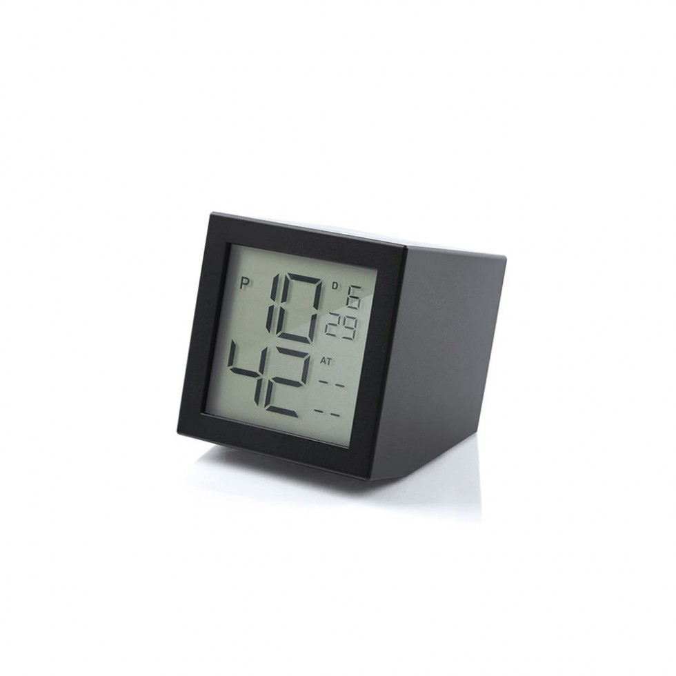 Lexon - Prism Clock Black, LCD-Wecker