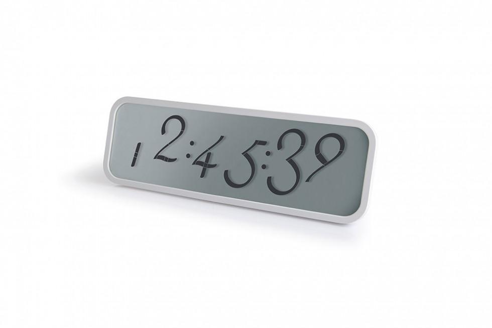 Lexon - Script Clock Large White