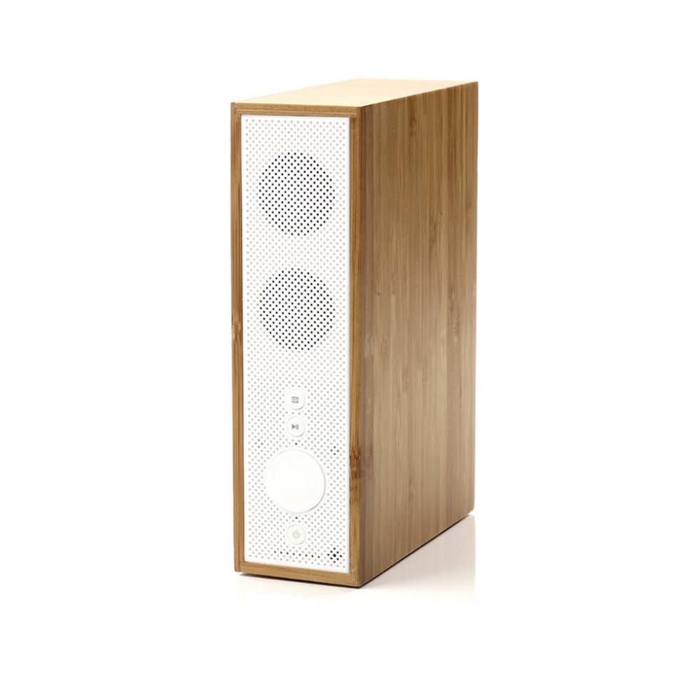 Lexon - Titanium Bluetooth Lautsprecher Bambus