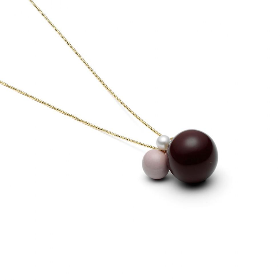 Louise Kragh - 3 Pearls I Halskette