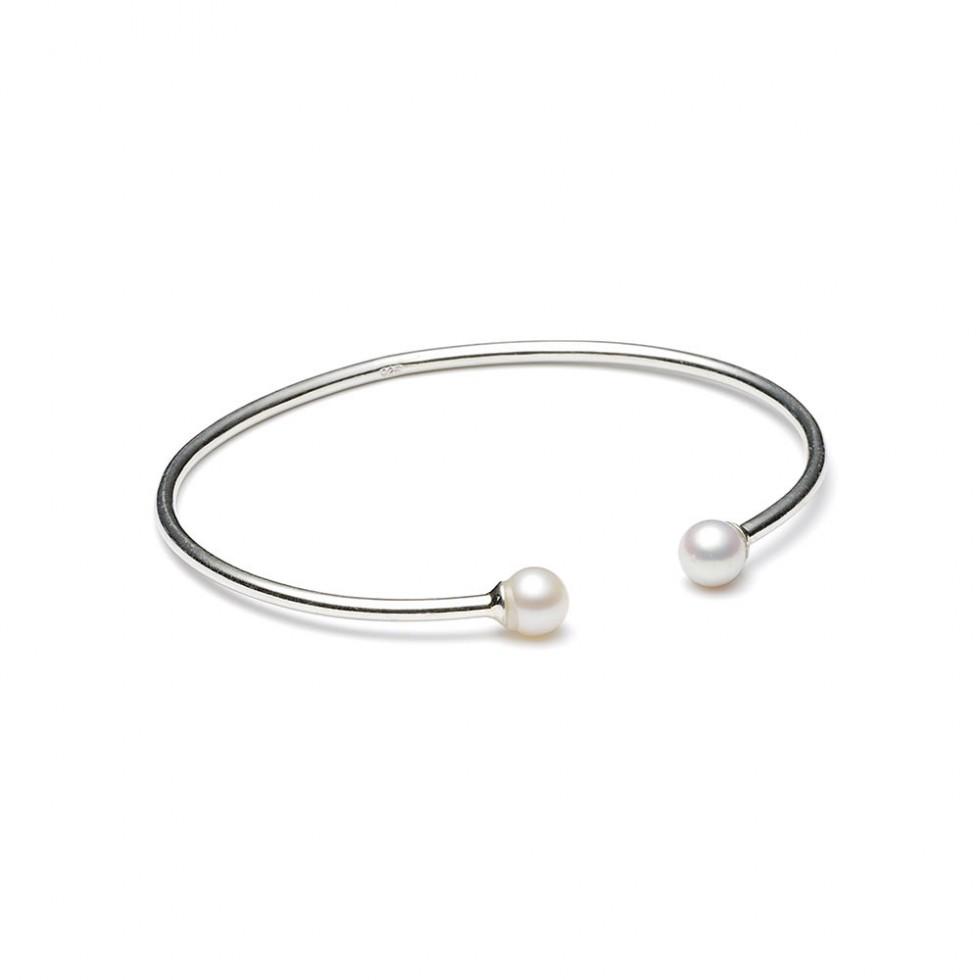 Louise Kragh - Freshwater Pearl Armband, Silber
