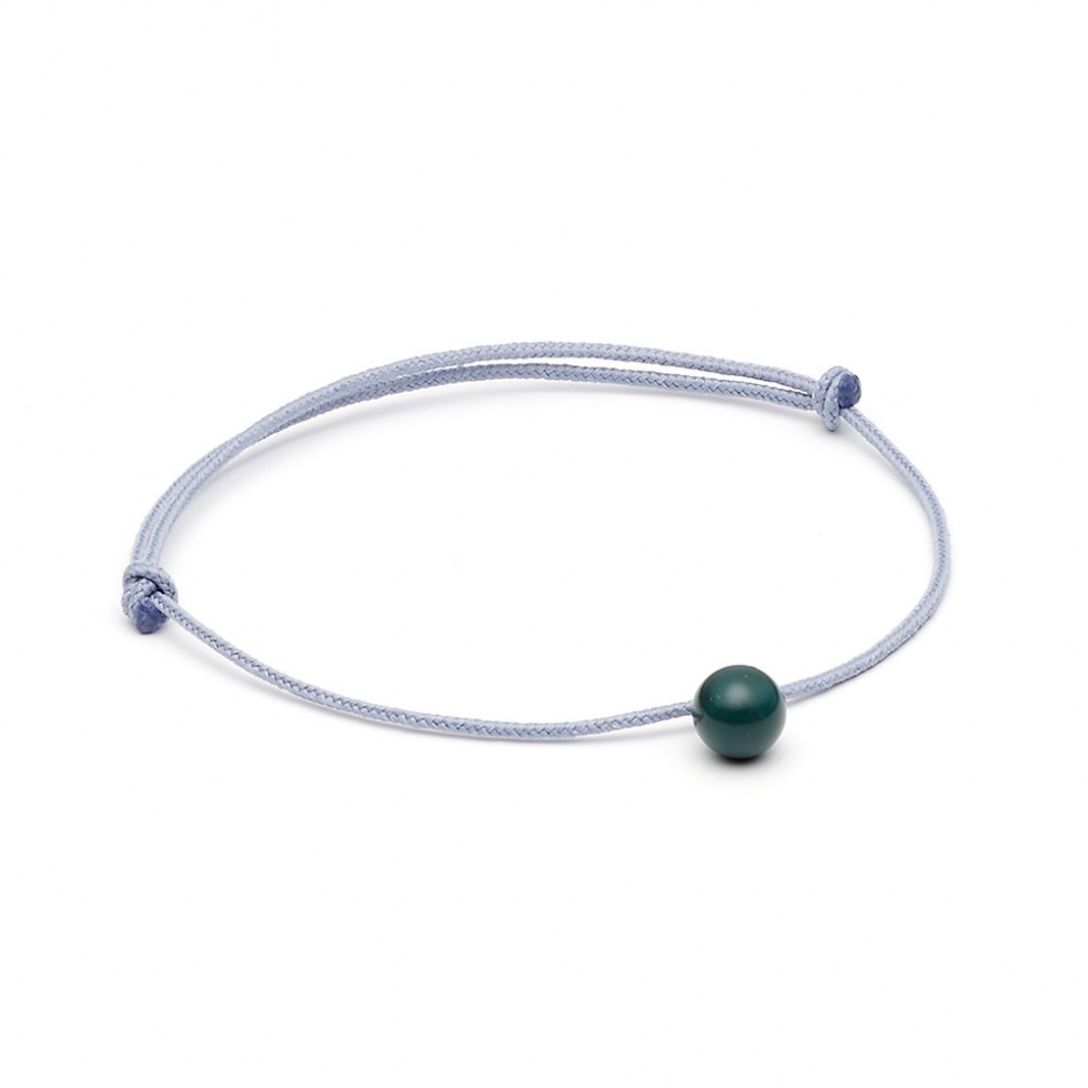 Louise Kragh - Minipearl Textil-Armband, blau