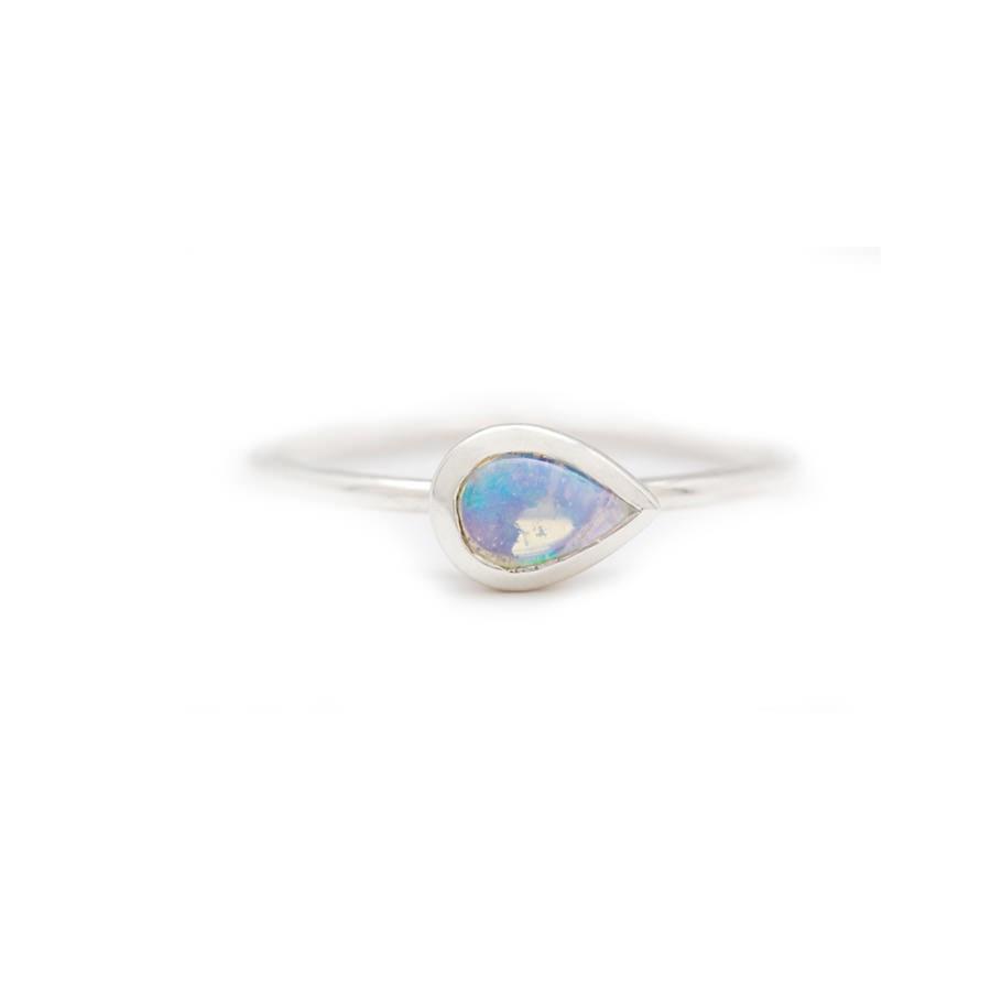 Nikki Montoya - Opal Ring, 925er Sterling Silber