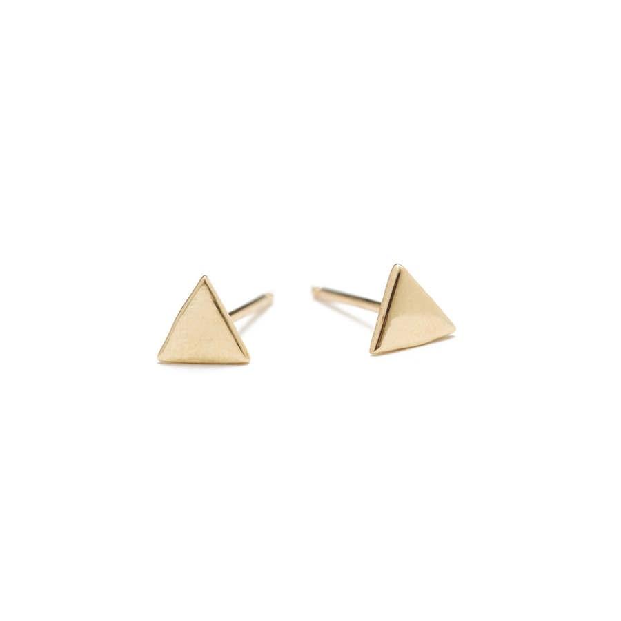Nikki Montoya - Triangle Studs, 14-Karat Gold