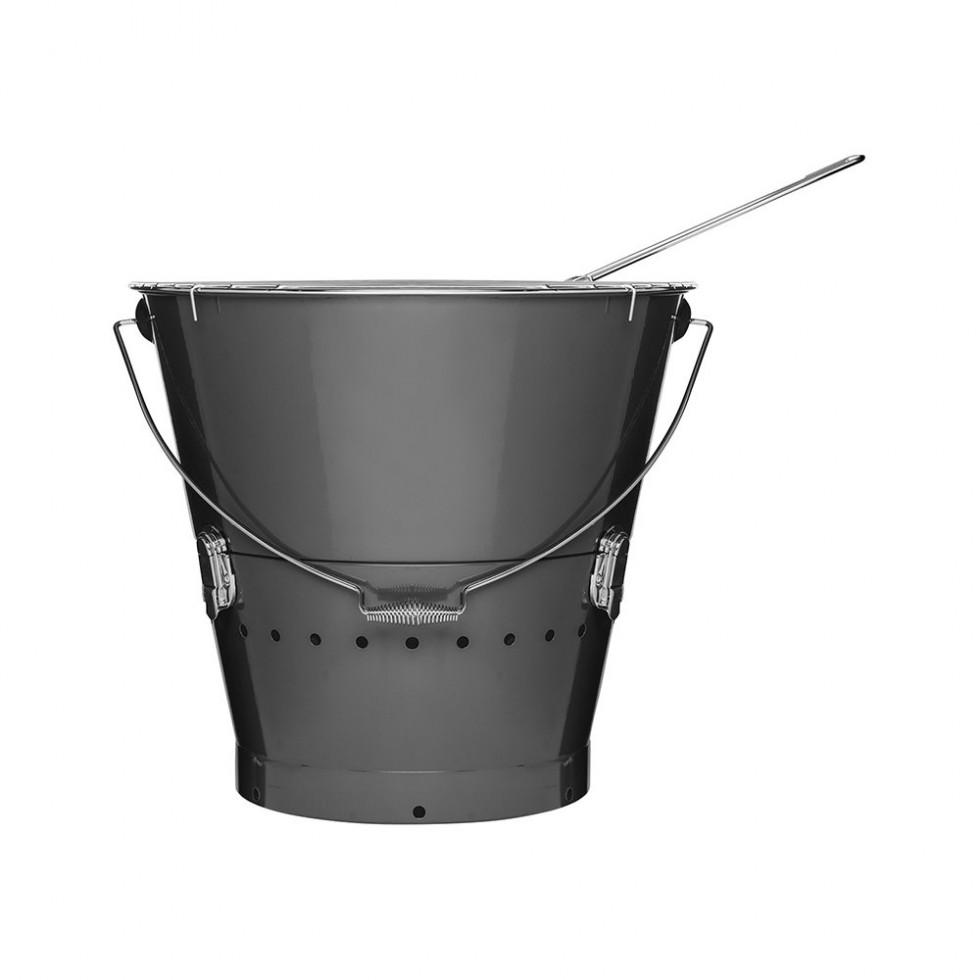 Sagaform BBQ - Grilleimer, grau