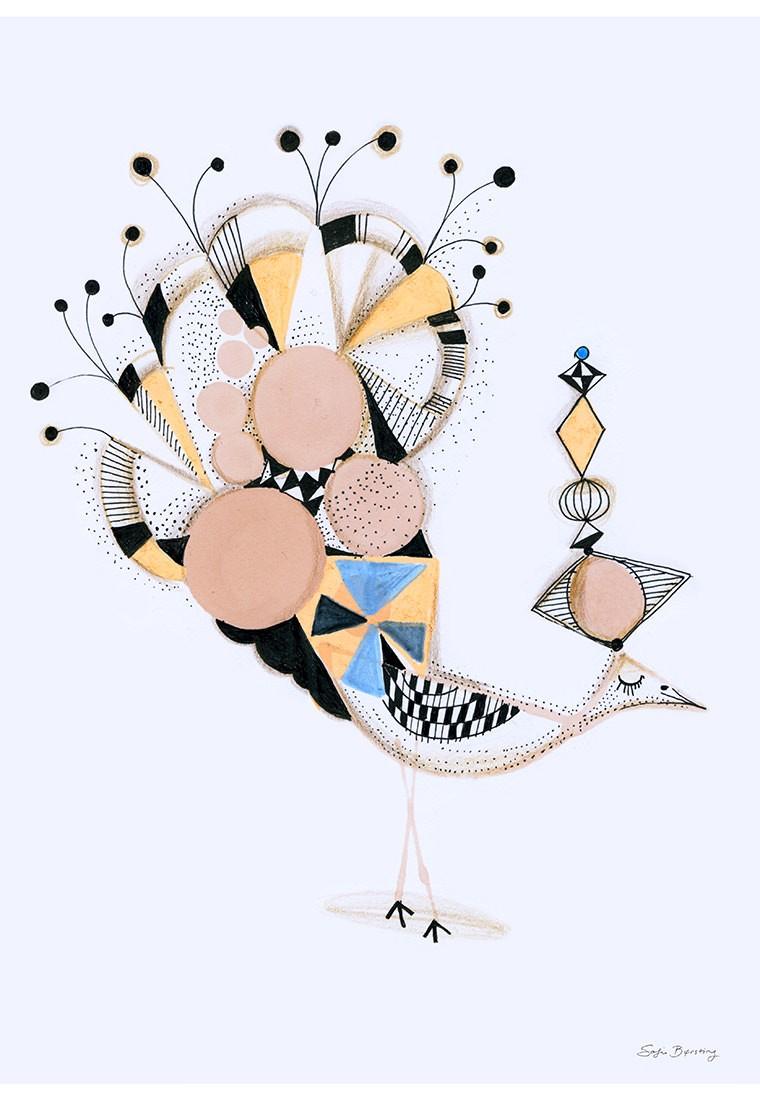 Sofie Børsting - Bird Elegance, Offset-Druck
