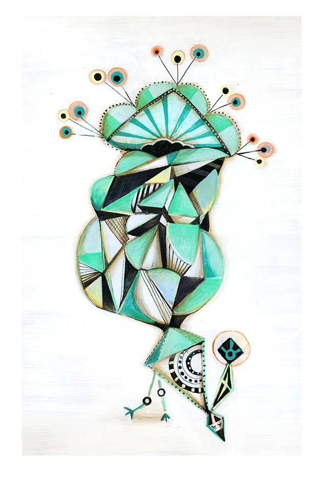 Sofie Børsting - Bird Tail, Originalzeichnung