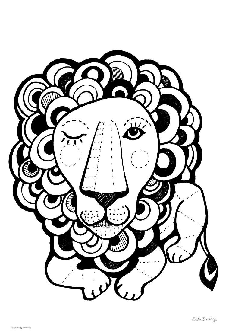 Sofie Børsting - Graphic Lion, Offset-Druck