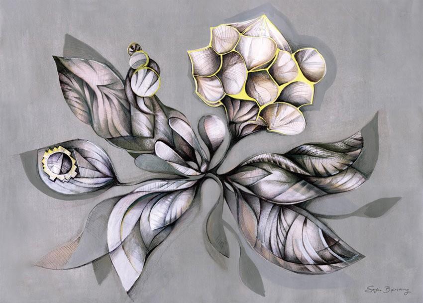 Sofie Børsting - Grey Botanica, Offset-Druck