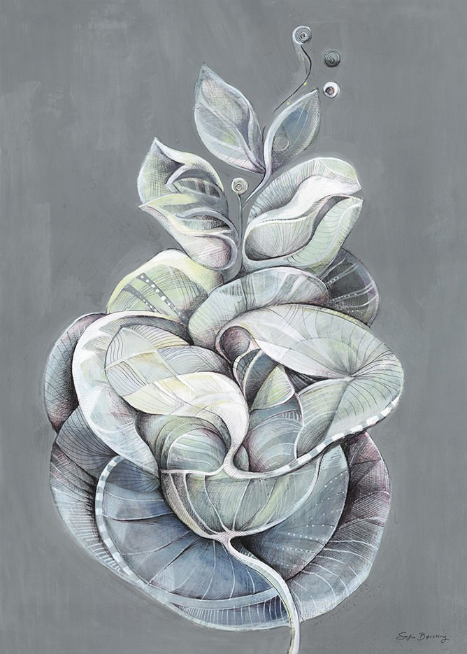 Sofie Børsting - Leaves of Grey, Offset-Druck