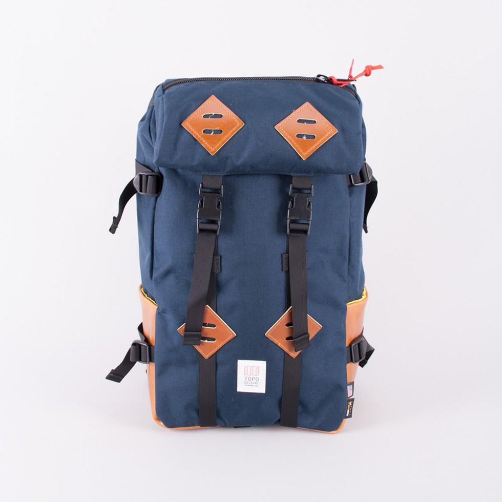 Topo Designs - Klettersack 22L Dunkelblau / braunes Leder
