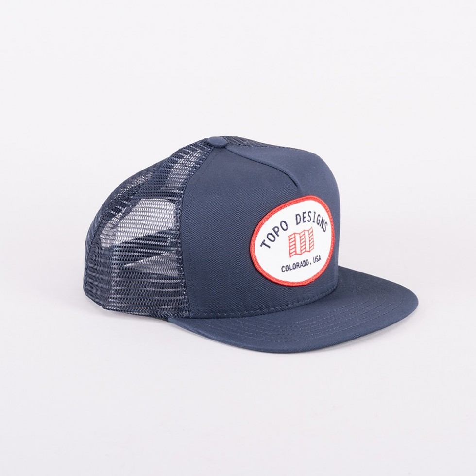 Topo Designs - Snapback Hat Blau