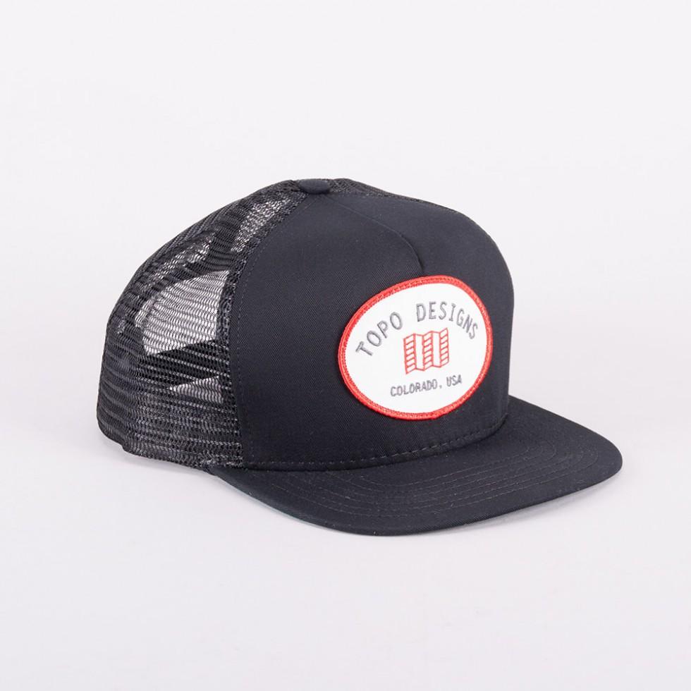 Topo Designs - Snapback Hat Schwarz