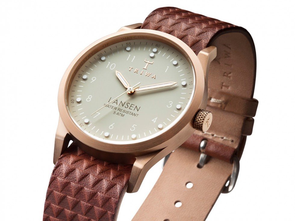 Triwa - Ivory Lansen Uhr - Brown Giza Mono