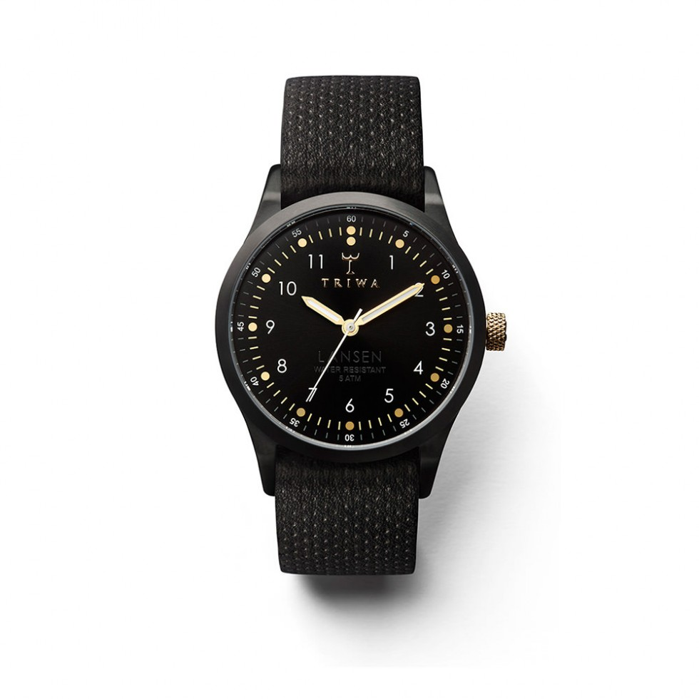 Triwa - Midnight Lansen Uhr - Black Dots Mono