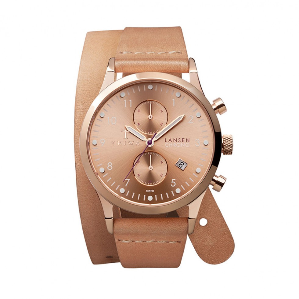 Triwa - Rose Lansen Chronograph - Tan Twist