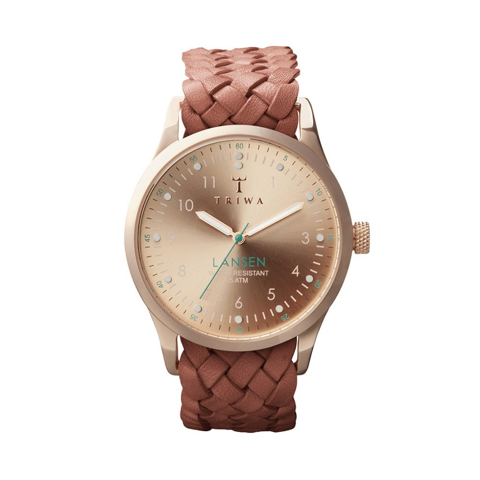 Triwa - Rose Lansen Uhr - Brown Braided Mono