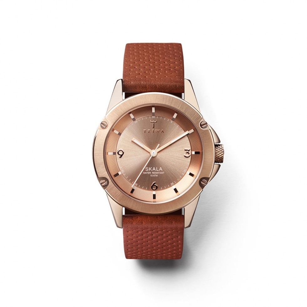 Triwa - Rose Skala Uhr - Brown Dots Classic