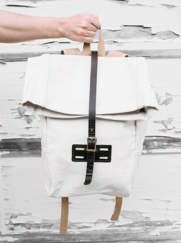 Archival Clothing - Rolltop Rucksack Canvas, Natural